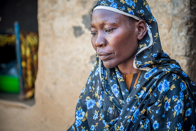 """ With no husband I worry every day how I am going to cope; how I will pay for food, school fees and medicines for my children."" says *Rawia Photo: Annie Bungerouth/ACT-Caritas"