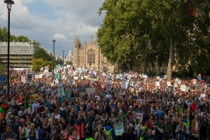 40,000 people joined the Climate march in London. Credit: CAFOD