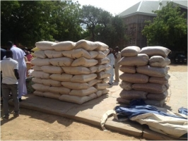 Relief materials ready for distribution. Credits: Fr. John Bakeni/Caritas Nigeria