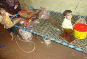 Caritas Pakistan a déjà atteint des familles avec une aide. Crédit : Caritas Pakistan
