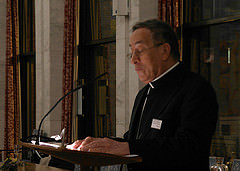 Cardinal Rodriguez speaking at the official anniversary ceremony of Caritas Norway.