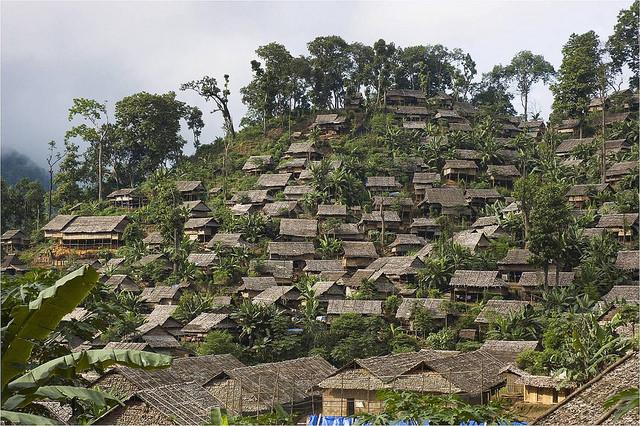 Mae Ra Ma Luang campo de refugiados en Tailandia.