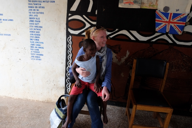 Lili and Michelle at the Center for Child Development in Bolgatanga. Photo by Caritas