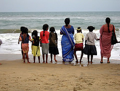Tsunami affected communities in Sri Lanka.