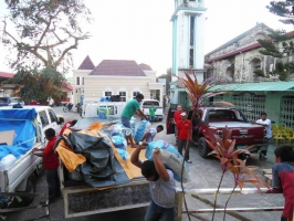 Teams reached the San Bartholomew Parish in Catbalogan City with relief goods for 1,150 families.