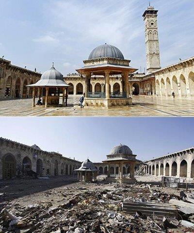 La mosquée des Omeyyades à Alep - la cour extérieure de la mosquée.
