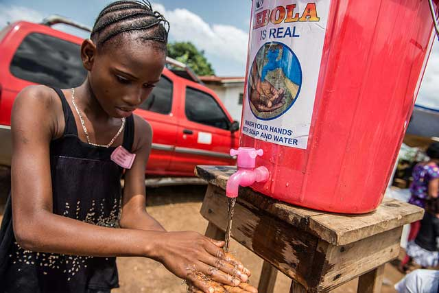 Handwashing is key to protecting people from Ebola.
