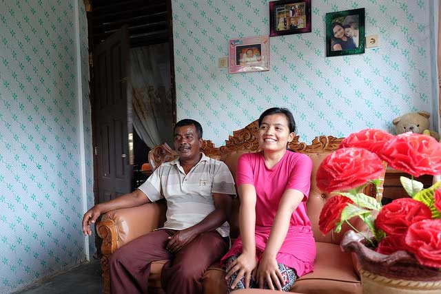 Buyung Arta, 50, and his daughter Nurlinda, 21, live in a CRS house.