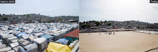 Unas 800 familias convirtieron este campo de fútbol de Solino