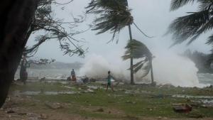 Cyclone Pam hits Vanuatu.