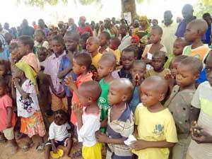 Los niños desplazados internos en el estado de Maiduguri, Borno.