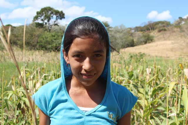 A family member of a farmer in a village near Juigalpa in Nicaragua. Photo by Laura Sheahen/Caritas