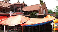 Caritas is providing aid to survivors sheltering in the Assumption Church in Kathmandu. Credit: Caritas Australia