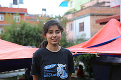 """""""We came to the church because we know a lot of people here so we can be together and coordinate and help each other out. Now later I feel everything is going to be alright."""" said Qurnain, 15 years old."""