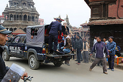 """Search and rescue teams are still looking for survivors. """"We don't know the real situation in a lot of areas because big buildings have collapsed,"""" said Caritas Nepal director Fr. Pius Perumana."""