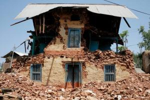 80 maisons ont été détruites ou gravement endommagées dans le petit village de Panchkhal à Kavre.