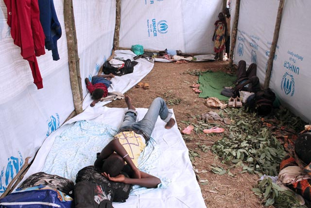 People who fled violence in Burundi now live in a cramped refugee camp in Rwanda. Photo by Caritas Rwanda