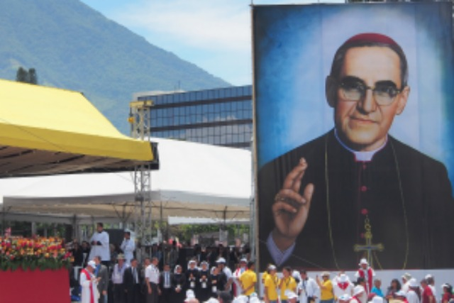 The beatification Mass for Archbishop Oscar Romero in San Salvador on 23 May. Credit: Myriam Antaki/D&P