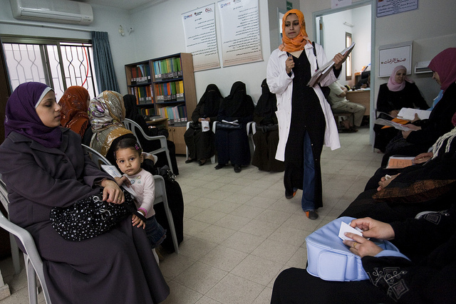 The clinic of the Caritas Jerusalem-Gaza Branch center in Gaza City...Credit: Katie Orlinsky/Caritas