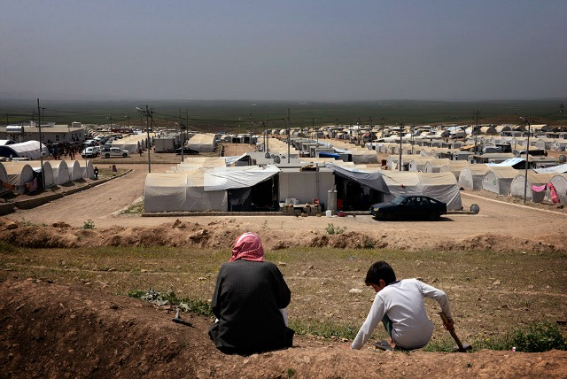 A camp in Iraqi Kurdistan for people forced from their homes by religious persecution.  Photo by Chris de Bode/Cordaid