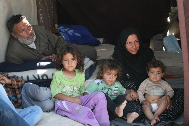 Syrian refugees are facing harsh conditions as they either wait for help or to return to Syria.  Credit: Caritas Turkey