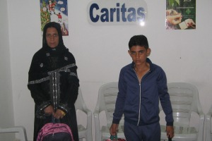 Caritas Hassake also provided school aid to families. Credit: Caritas