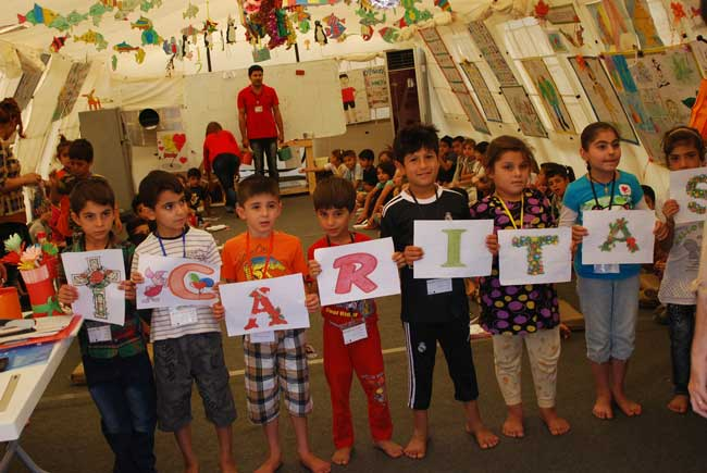 Program of Caritas Iraq for Christian and Yezidi children in Dohuk. Photo by De Champs/Caritas