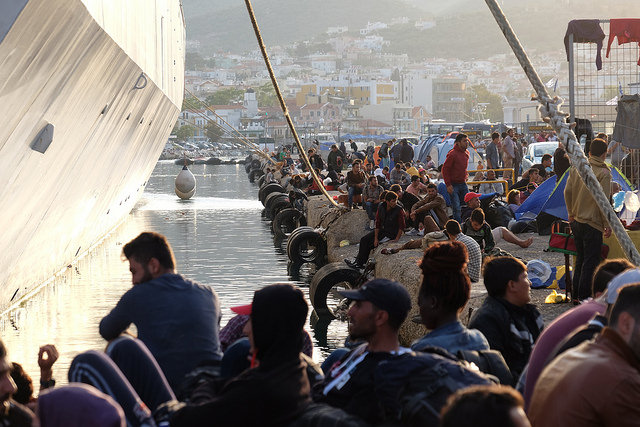 Already this year, nearly 200,000 have passed through the Greek island of Lesbos. Credit: Patrick Nicholson/Caritas