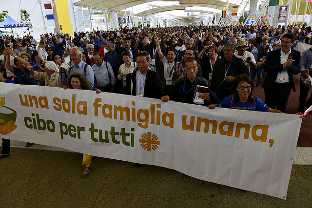 Caritas Day at Expo Milan 2015, where Caritas representatives from around the world gathered to celebrate the successes of the Food for All campaign. Photo by Simone Stefanelli for Caritas