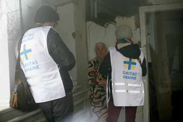 Caritas will help elderly people living in bomb-damaged homes rebuild for winter. Credit: Matthieu Alexandre/Caritas Internationalis