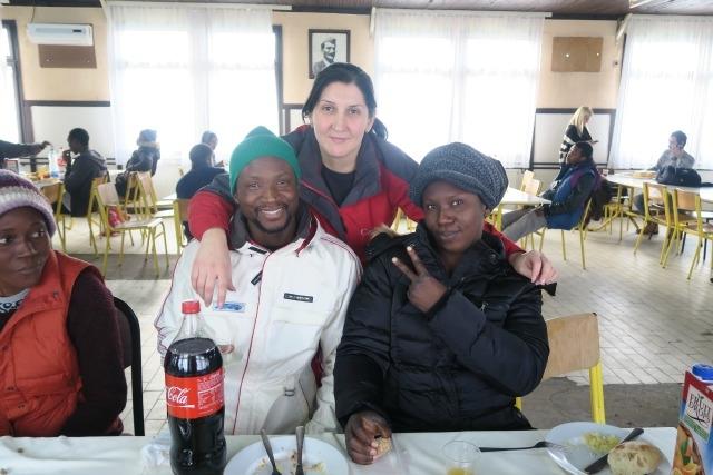 Christmas lunch hosted by Caritas Serbia at Belgrade asylum centre. Credit. Caritas Serbia