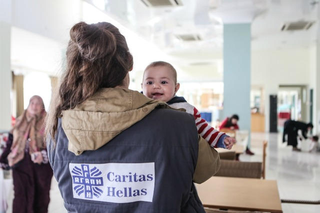 The Caritas hotel for refugees on Lesbos. Credit: Lefteris Partsalis/Caritas Switzerland.