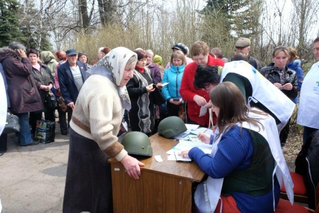 Caritas provided radiators to communities cut off on Ukraine's frontline. Credit: Irene Broz/Caritas
