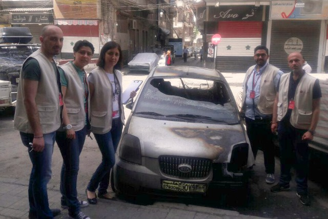 Caritas staff in Aleppo are doing what they can to help a city underseige. Credit: Caritas Syria
