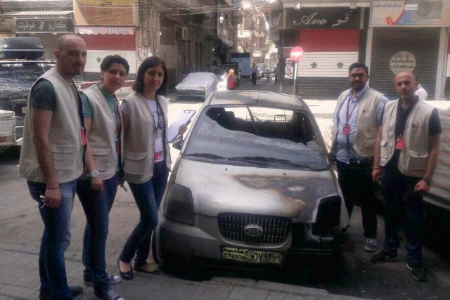 Le personnel de Caritas à Alep fait ce qu'il peut pour aider une ville en état de siège. Source: Caritas Syrie