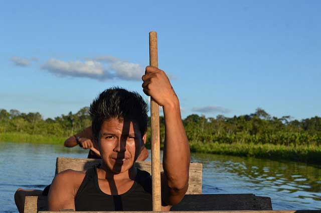 Yasuní, East Ecuador. Life of the Amazon populations are increasingly being violated. Photo by Caritas Ecuador