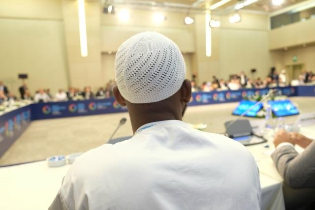 Les chefs religieux présents lors de la réunion à Istanbul dans le cadre du Sommet humanitaire international. Crédit: Patrick Nicholson/Caritas