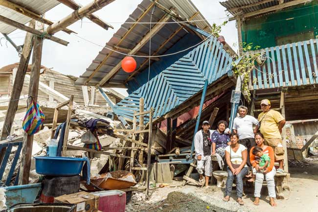 Church uplifts earthquake affected communities in Ecuador