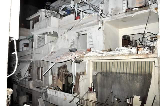 L'appartement du personnel de Caritas à Alep.