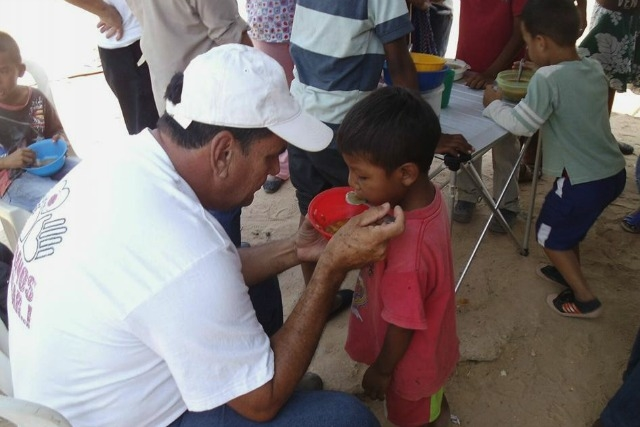 Caritas recently had to reopen soup kitchens for malnourished children. Credit: Caritas Venezuela