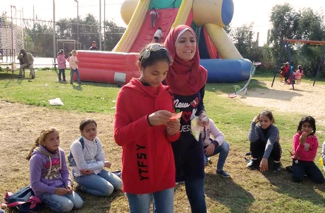 Caritas program for children in Gaza.