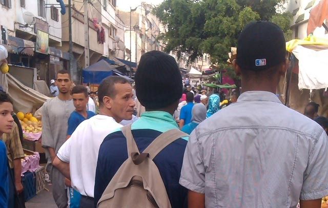 Maxine Camara * on the street of Rabat.
