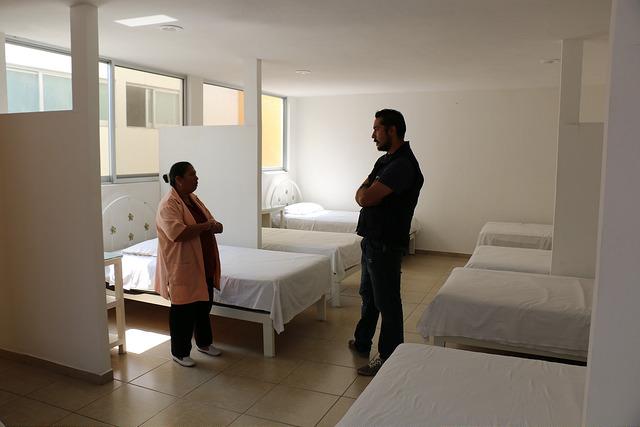 Dormitary room at Casa del Migrante.