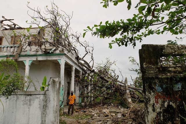Some of the damage in the community of Torbeck in the diocese of Les Cayes.