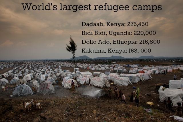 Overview of refugee camp Mugunga 3 in Goma, North Kivu, Congo