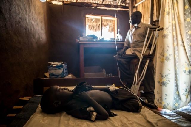 Caritas travaille aussi auprès des réfugiés qui fuient la famine et le conflit au Soudan du Sud. Source : Tommy Trenchard/Caritas.