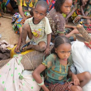 Nacimientos semejantes a Jesús en el pesebre en la República Centroafricana