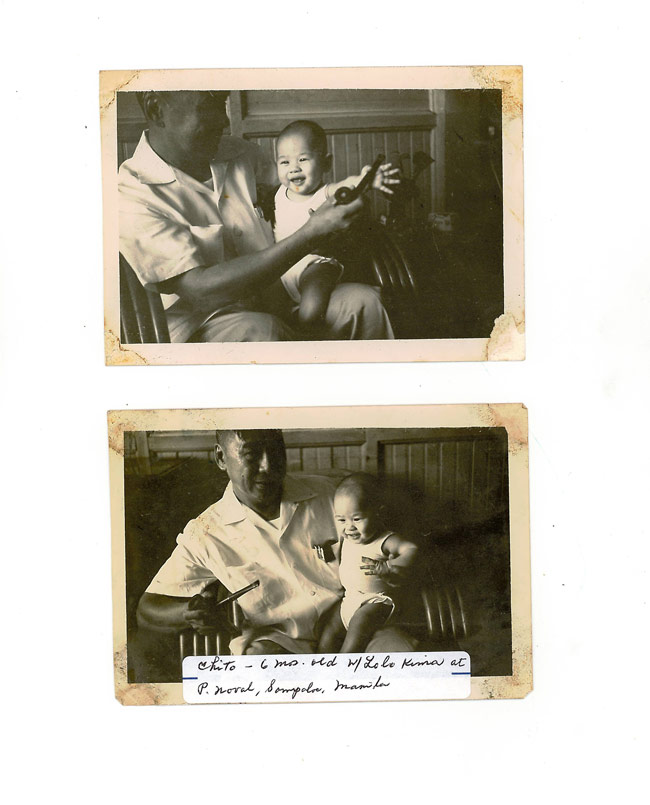 Cardinal Tagle and his grandfather. Photo by personal collection