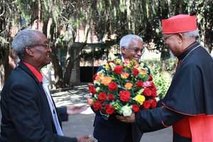 Ethiopian cardinal welcomes man who jailed him