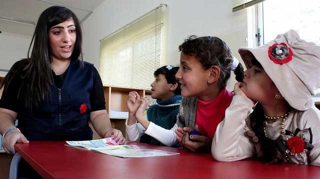 Des familles syriennes hébergées en Jordanie